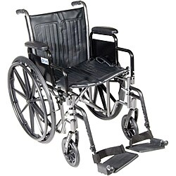 Silver Sport 2 Wheelchair with Detachable Desk Arms & Footrests