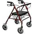 Drive Heavy Duty Red Bariatric Large Padded Seat Rollator Walker