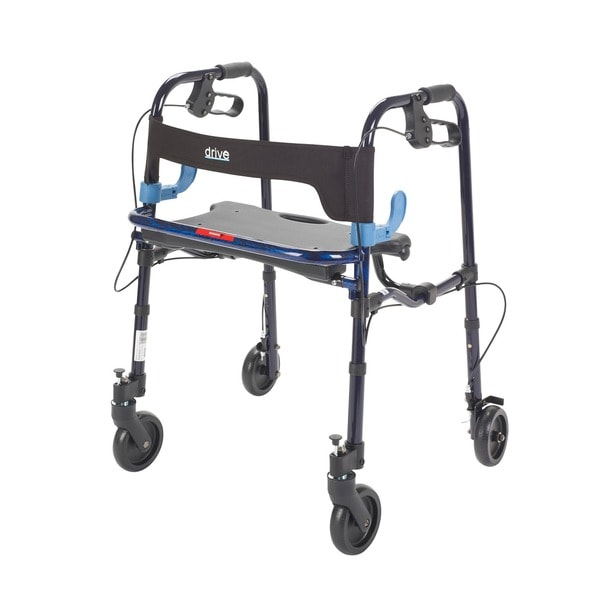 Drive Deluxe Junior Clever Lite Rollator Walker with 5 Casters