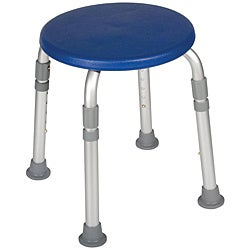 Adjustable Height Blue Bath Stool