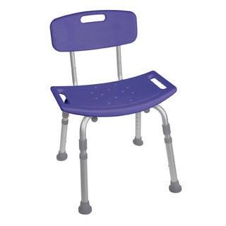 Blue Bathroom Safety Shower Tub Bench Chair with Back