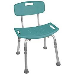 Teal Bathroom Safety Shower Tub Bench Chair with Back
