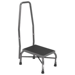 Drive Heavy-duty Bariatric Non-skid Footstool with Handrail