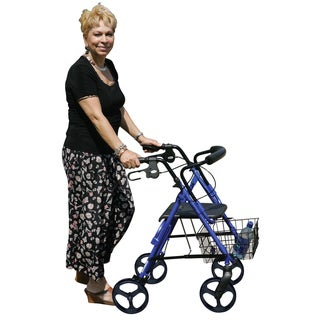 Drive D-Lite Black Aluminum with 8-inch Wheels Rollator Walker