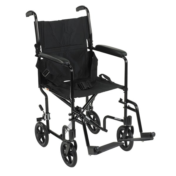 Deluxe Lightweight Aluminum Transport Wheelchair