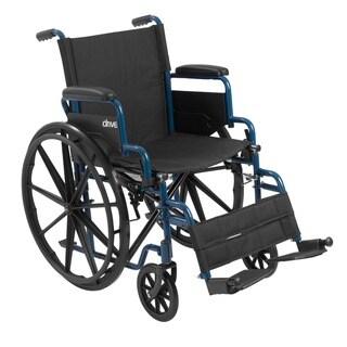 Drive Medical Blue Streak Wheelchair with Flip Back Desk Arms