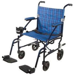 Drive Fly Lite 19-inch Ultra Lightweight Transport Wheelchair