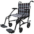 Drive Fly Lite Black 19-inch Ultra Lightweight Transport Wheelchair