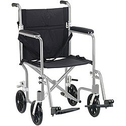 Drive Medical Flyweight 17-inch Aluminum Transport Wheelchair