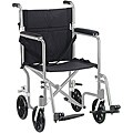 Drive Medical Flyweight 17-inch Aluminum Transport Wheelchair