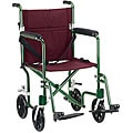 Drive Medical Flyweight 19 inch Lightweight Aluminum Transport Wheelchair