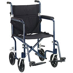 Drive Medical Flyweight 19 Lightweight Aluminum Transport Wheelchair
