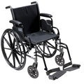 Cruiser3 Light Wheelchair with Flip Back Removable Arms and Footrests
