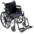 Cruiser3 Light Wheelchair with Flip Back Removable Arms & Footrests