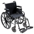 Cruiser3 Light Wheelchair with Removable Desk Arms & Footrests
