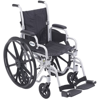 Poly Fly Lightweight Transport Chair Wheelchair with Footrests