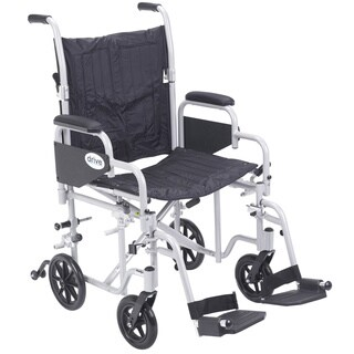 Poly Fly Lightweight Aluminum Transport Chair Wheelchair with Footrests