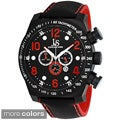 Joshua & Sons Men's Oversized Chronograph Stainless Steel Sport Watch