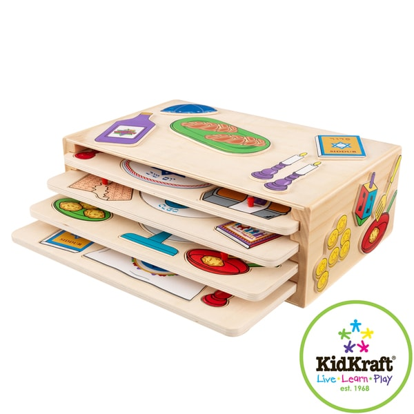 KidKraft Wooden Holiday Puzzle Set