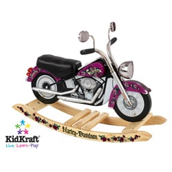 KidKraft Girls Harley Davidson Roaring Anti-tip Base Trendy Rocker