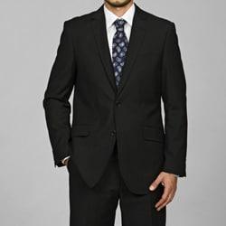Men's Slim-Fit Black 2-Button Single-Breasted Suit