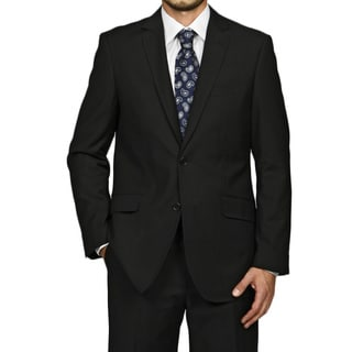 Men's Slim-Fit Black 2-Button Single-Breasted Suit