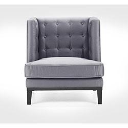 Modern Silver Satin Chair