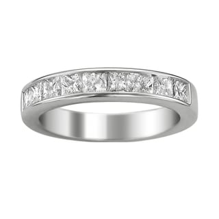 Brides Across America 14k White Gold Women's 1 1/2ct TDW Certified Diamond 9-stone Wedding Band (G-H, I1)