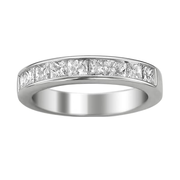 Brides Across America by Montebello 14k White Gold Women's 1 1/2ct TDW Certified Diamond 9-stone Wedding Band (G-H, I1)