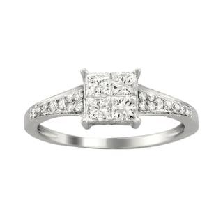 14k White Gold 3/4ct TDW Diamond Composite Ring (H-I, I1-I2)