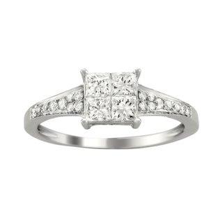 14k White Gold 3/4ct TDW Diamond Composite Ring (H-I, I1-I2)