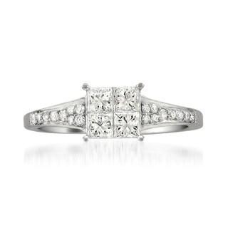 Montebello 14k White Gold 3/4ct TDW Diamond Composite Ring (H-I, I1-I2)