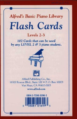 Alfred's Basic Piano Library Flash Cards: Levels 2 - 3 (Cards)