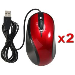 USB Optical Scroll Wheel Mouse (Pack of 2)