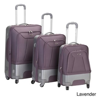 Rockland Rome Spinner Expandable 3-piece Luggage Set
