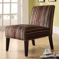 Tribecca Home Decor Dark Stripe Lounge Chair