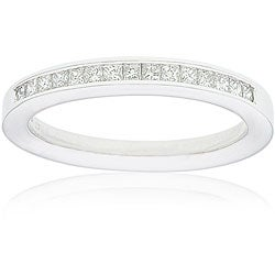 14k Gold Women's 1/4ct TDW Certified Princess Diamond Wedding Band (G-H, SI3-I1)