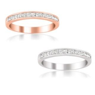 14k White Gold Women's 1/2ct TDW Certified Diamond 16-stone Wedding Band (G-H, SI3-I1)
