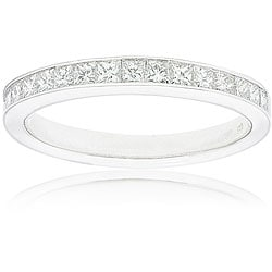14k White Gold Women's 1/2ct TDW Certified Diamond 16-stone Wedding Band (G-H, SI3-I1)