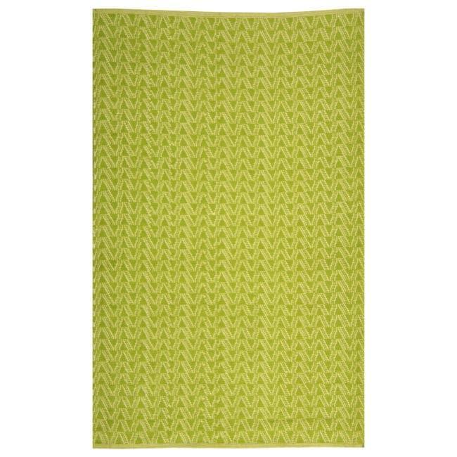 Handmade Thom Filicia Ackerman Key Lime Green Rug (5' x 8')