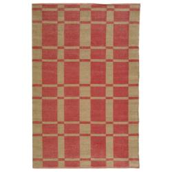 Handmade Thom Filicia Chatam India Red Outdoor Rug (5' x 8')