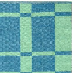 Handmade Thom Filicia Chatham Sea Blue Outdoor Rug (5' x 8')