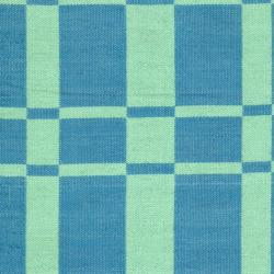 Handmade Thom Filicia Chatham Sea Blue Outdoor Rug (5' x 8')