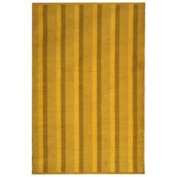Handmade Thom Filicia Danforth Indigo Outdoor Rug (4' x 6')
