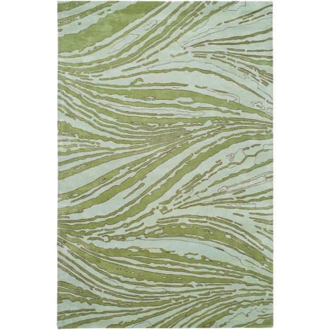 Handmade Thom Filicia Niagra Green N.Z. Wool Rug (8' x 10')