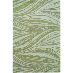Handmade Thom Filicia Niagra Green N.Z. Wool Rug (9' x 12')