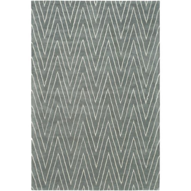 Thom Filicia Griffith Park Blue/ Stone N.Z. Wool Rug (8' x 10')