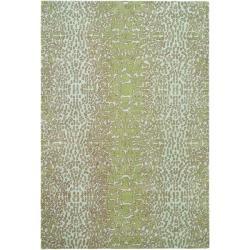 Handmade Thom Filicia Senica Mulberry N.Z. Wool Rug (9' x 12')