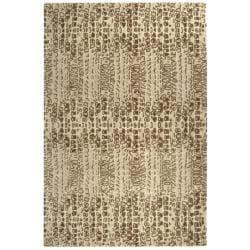 Handmade Thom Filicia Solar Limestone N.Z. Wool Rug (5' x 8')
