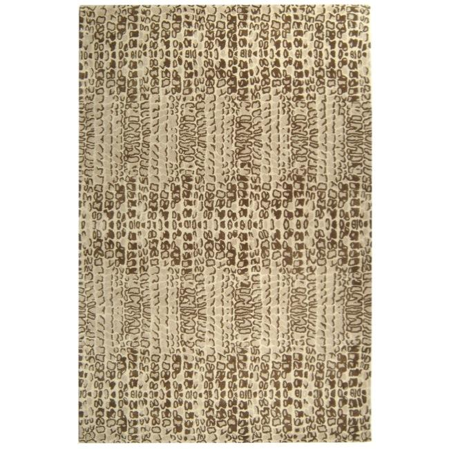 Handmade Thom Filicia Solar Limestone N.Z. Wool Rug (9' x 12')